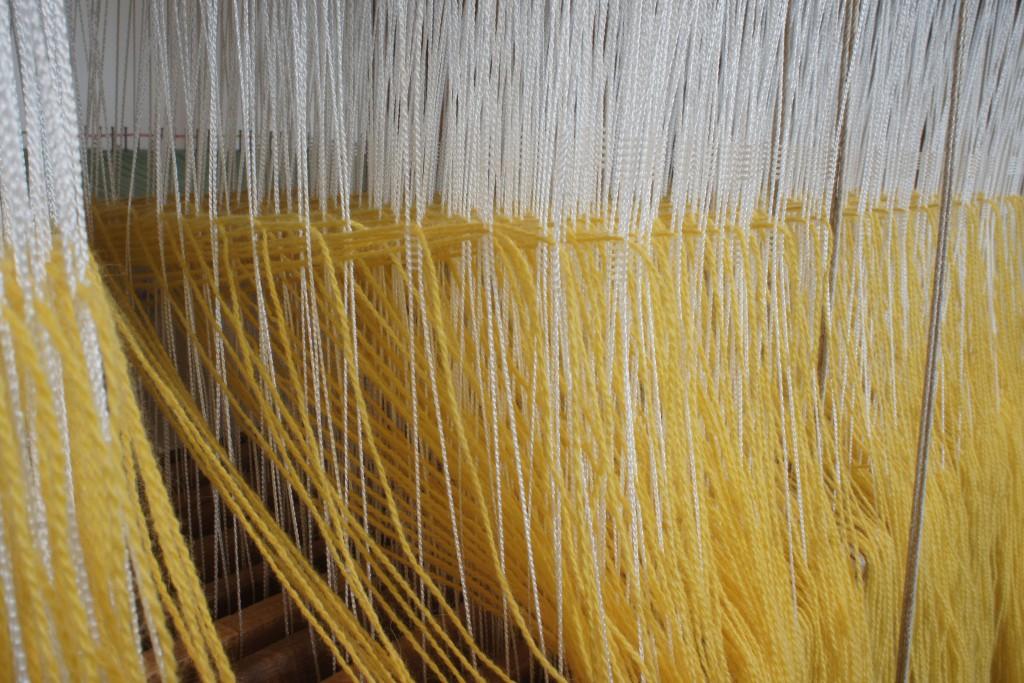 Loom Set Up - Heddles