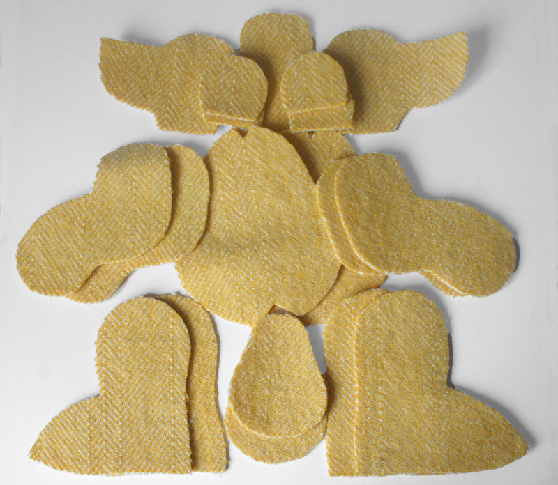 Teddy bear pieces